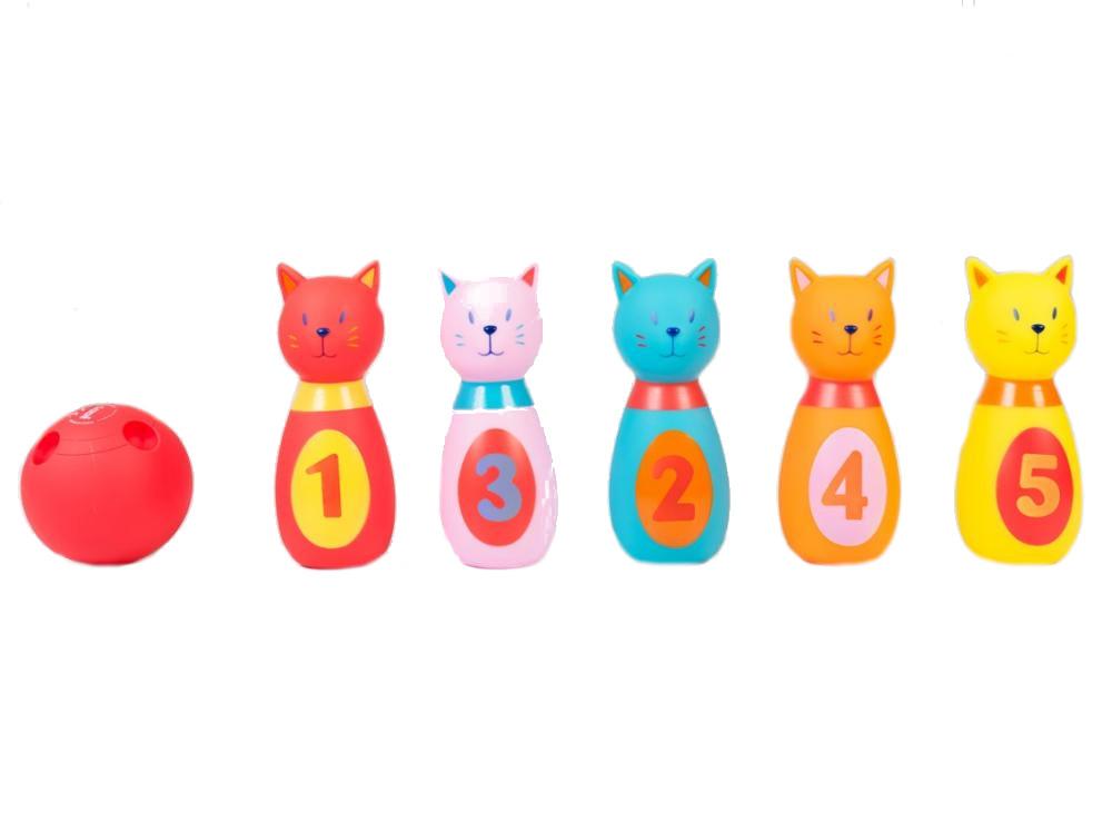 LUDI Set de popice soft PISICUTE imagine