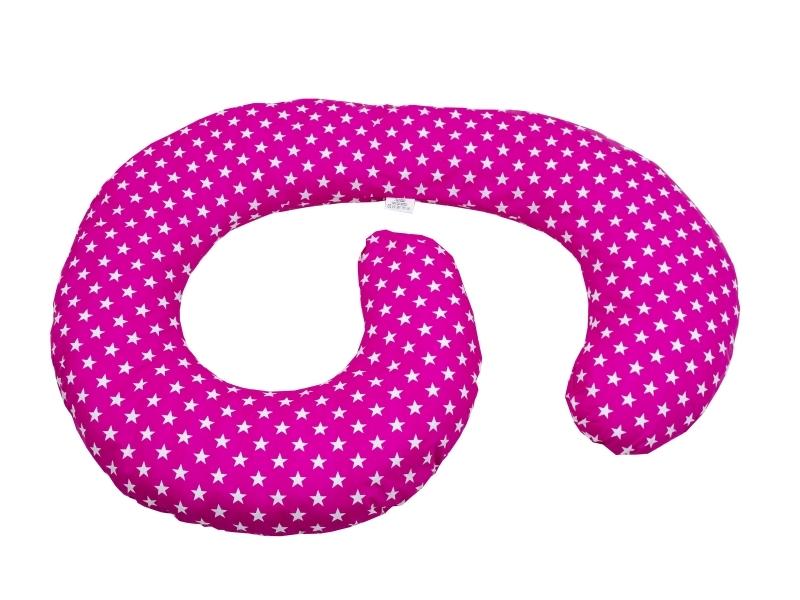 Perna De Alaptare Multifunctionala MyKids Stelute Pink-White