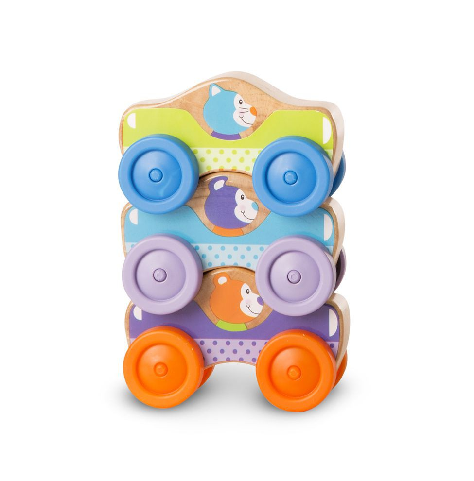 Masinute de stivuit cu animale - Melissa and Doug