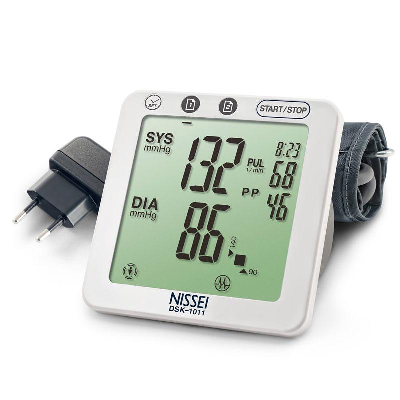 Tensiometru electronic de brat Nissei DSK-1011, memorare 60 de seturi, afisaj LCD imagine