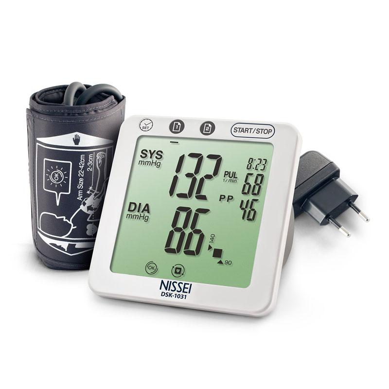 Tensiometru electronic de brat Nissei DSK-1031, memorare 60 de seturi, afisaj LCD, detectie... imagine