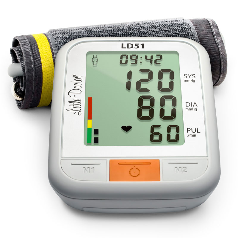 Tensiometru electronic de brat Little Doctor LD 51, afisaj XXL, detector aritmie, indicator WHO imagine