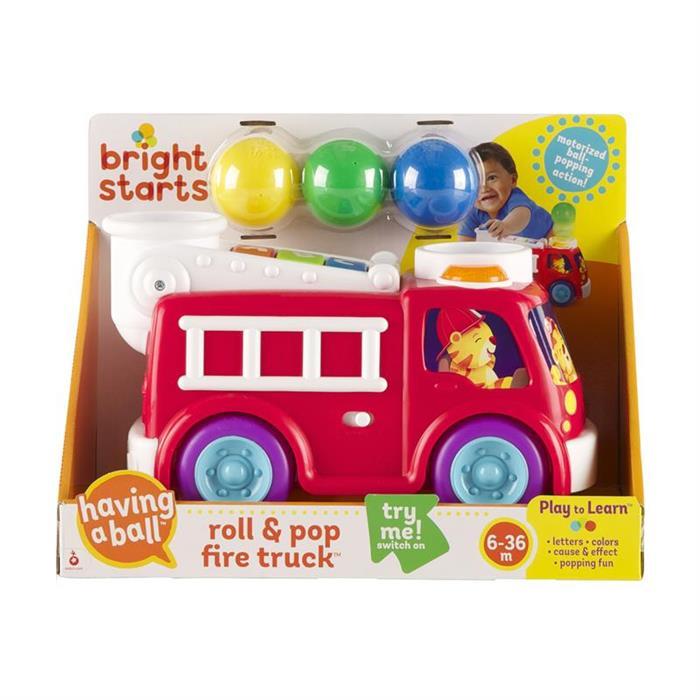 Bright Starts 52137 – Masina de pompieri cu lumini si sunete Hab Roll & Pop