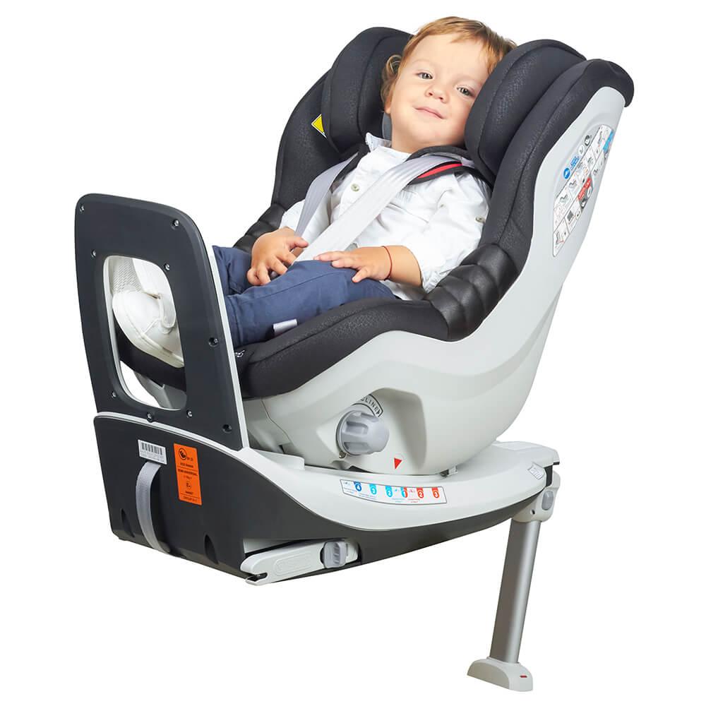 Scaun auto Rear Facing rotativ Tiago 0-18 kg negru KidsCare imagine