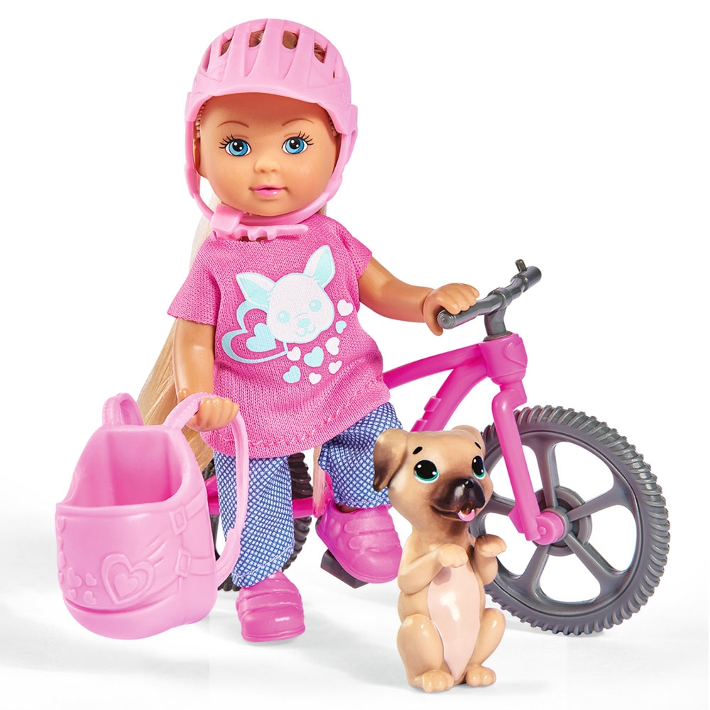 Papusa Simba Evi Love Holiday Bike 12 cm