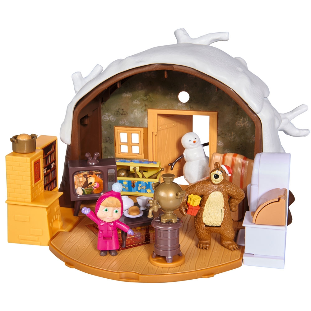 Jucarie Simba Masha and the Bear Winter Bear`s House