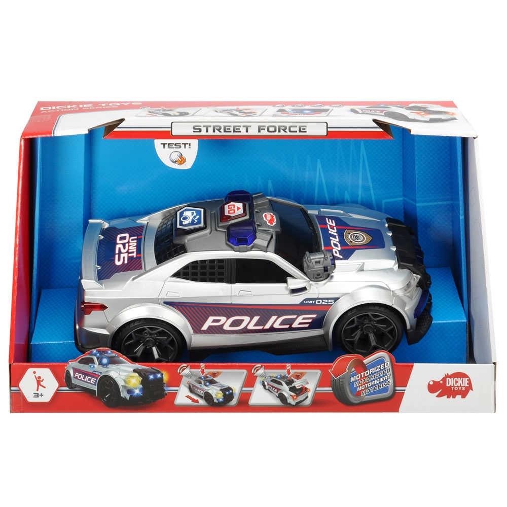 Masina de politie Dickie Toys Street Force cu sunete si lumini