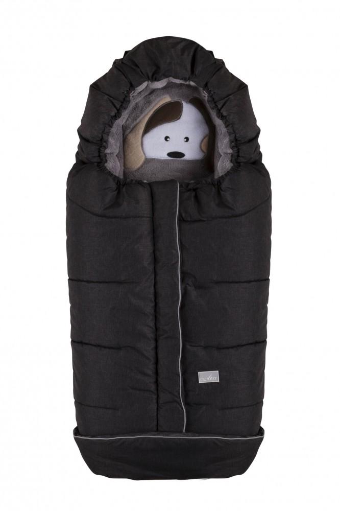 Nuvita Cuccioli sac de iarna 100 cm - Dog Melange Black/Grey - 9605 imagine