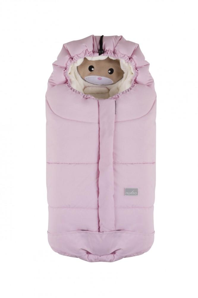 Nuvita Ovetto Cuccioli sac de iarna 80 cm - Rabbit Soft Pink / Beige - 9205 imagine