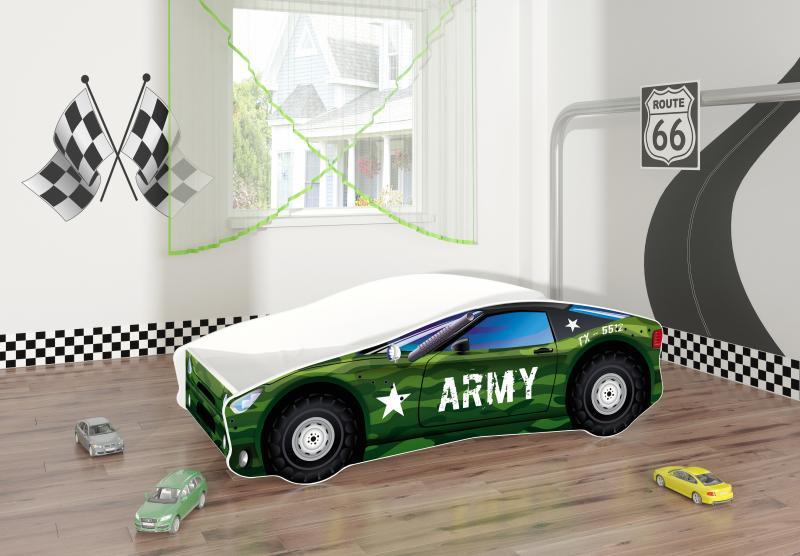 Pat Tineret MyKids Race Car 07 Army-160x80 imagine