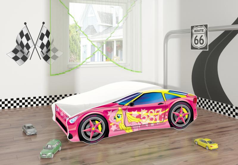 Pat Tineret MyKids Race Car 08 Pink-140x70 imagine