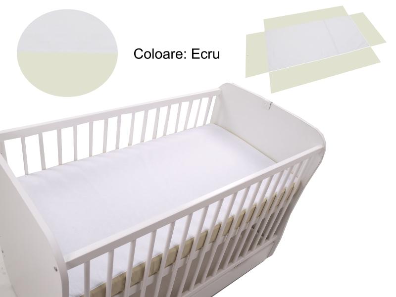 Cearceaf Klups fara elastic Ecru 120x60 imagine