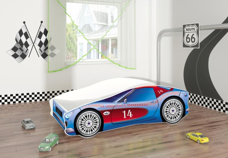 Pat Tineret MyKids Race Car 02 Blue-160x80 imagine