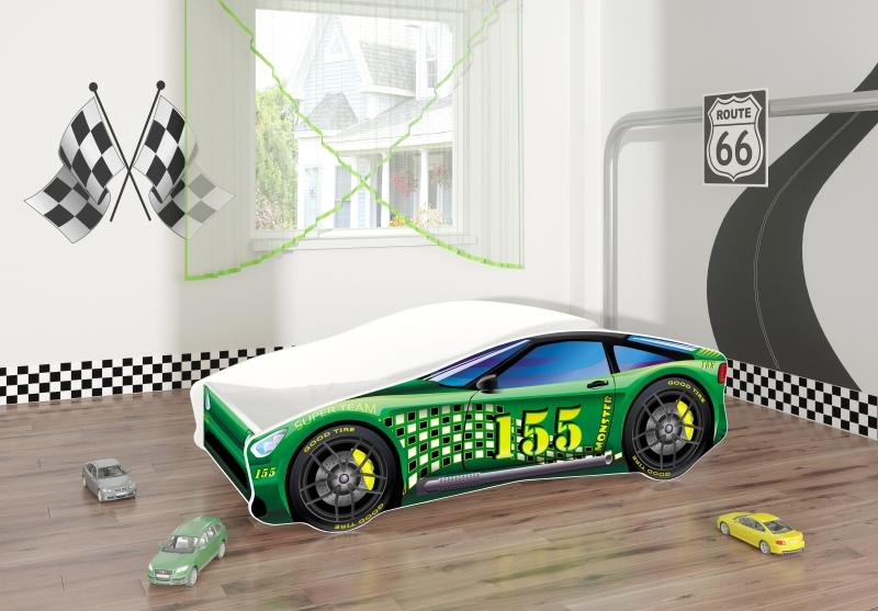 Pat Tineret MyKids Race Car 04 Green-160x80 imagine