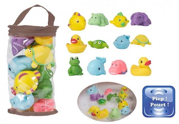 Set 12 jucarii de baie pentru bebelusi Bo Jungle imagine