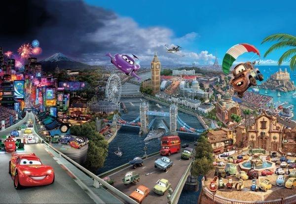 """Fototapet """"lumea Masinilor"""" - Colectia Disney"""