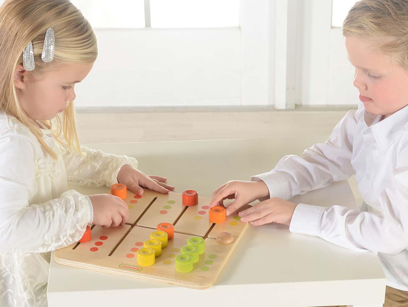 Labirint pentru sortarea culorilor, din lemn, +2 ani, Masterkidz imagine