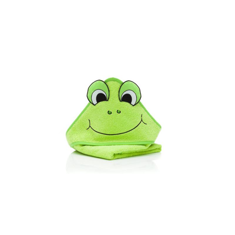 Prosop brodat Frog, green, 75x75 cm. Fillikid
