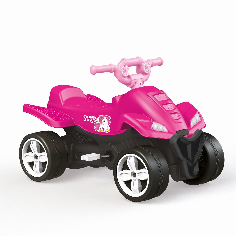 ATV cu pedale roz - Unicorn