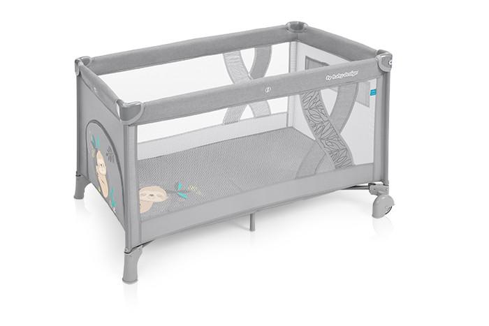 Baby Design Simple patut pliabil - 07 Light Grey 2019 imagine
