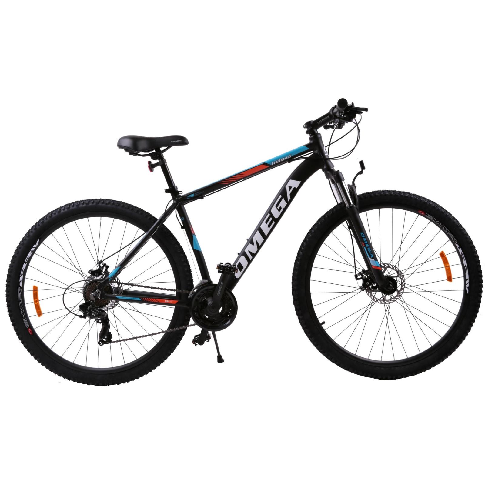 Bicicleta mountainbike Omega Thomas 29 cadru 49cm negru portocaliu alb 2019