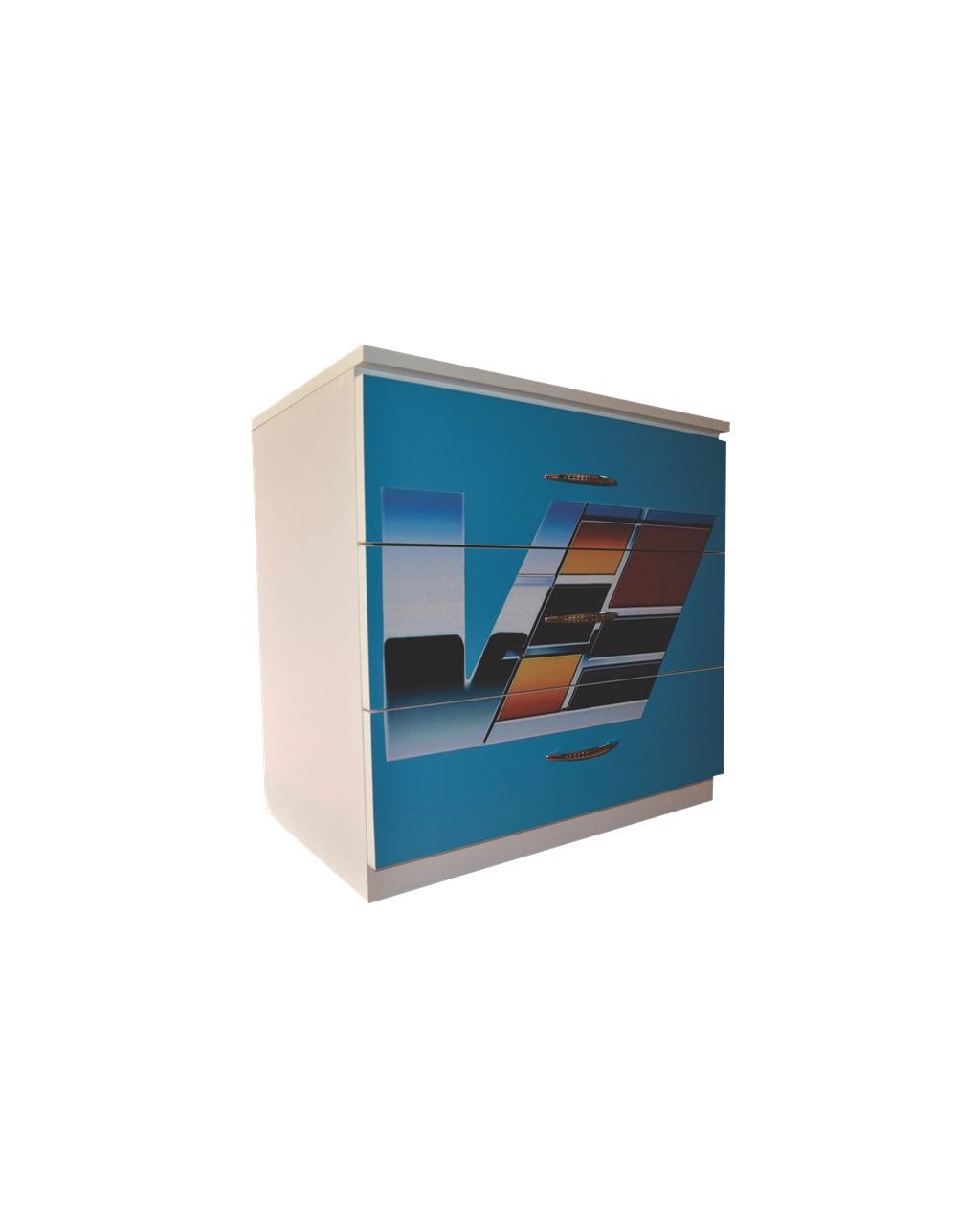 Comoda 3 sertare Blue