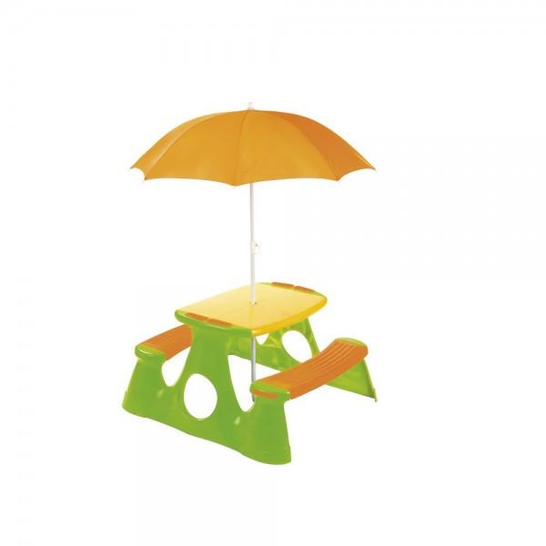 Masuta picnic pentru copii Paradiso Toys cu umbrela