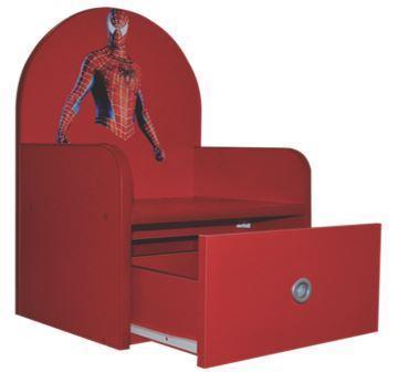 Scaunel pentru copii Spider Man cu sertar