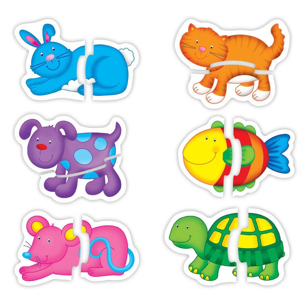 Baby Puzzle: Animale de companie (2 piese)