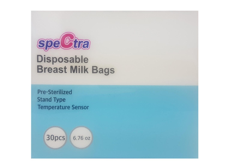 Pungi stocare lapte matern cu fermoar (30 buc.) imagine