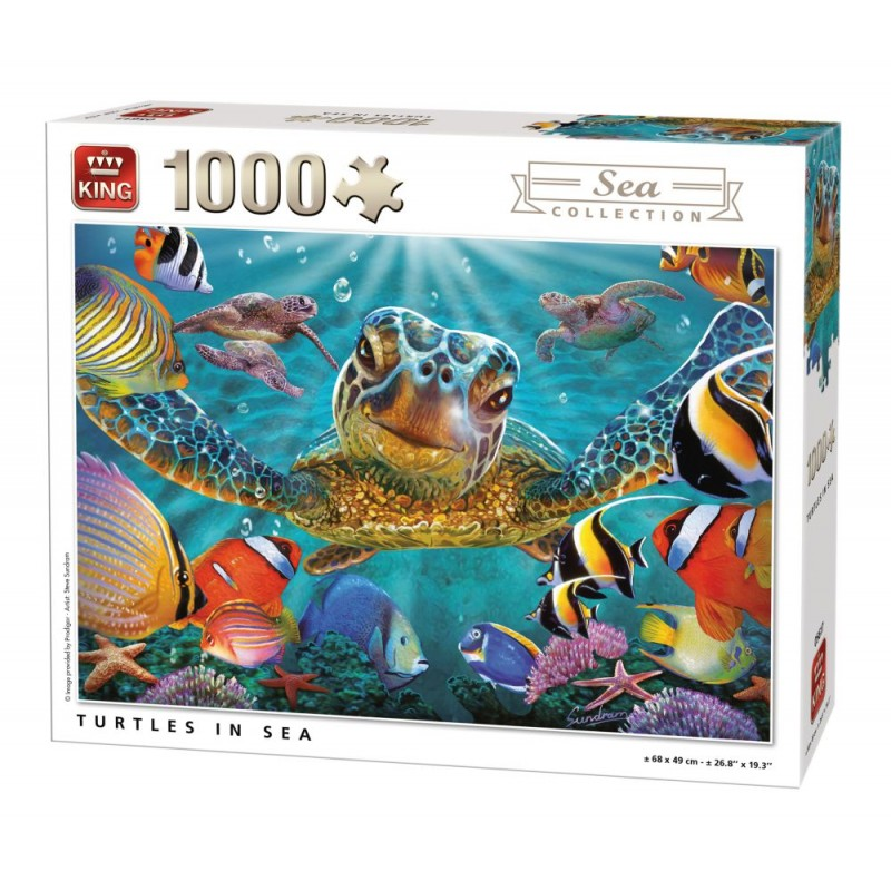 Puzzle 1000 piese Turtles In Sea