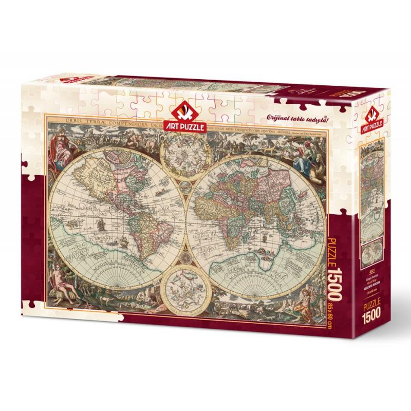 Puzzle 1500 piese - World Map-ALBERTO ROSSINI imagine