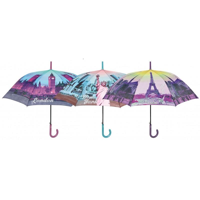 Umbrela automata baston (3 modele orase) - Perletti imagine