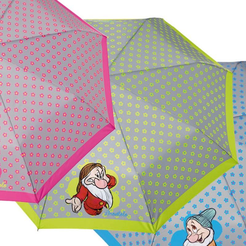 Umbrela manuala pliabila (3 modele floricele) - Cei 7 pitici imagine