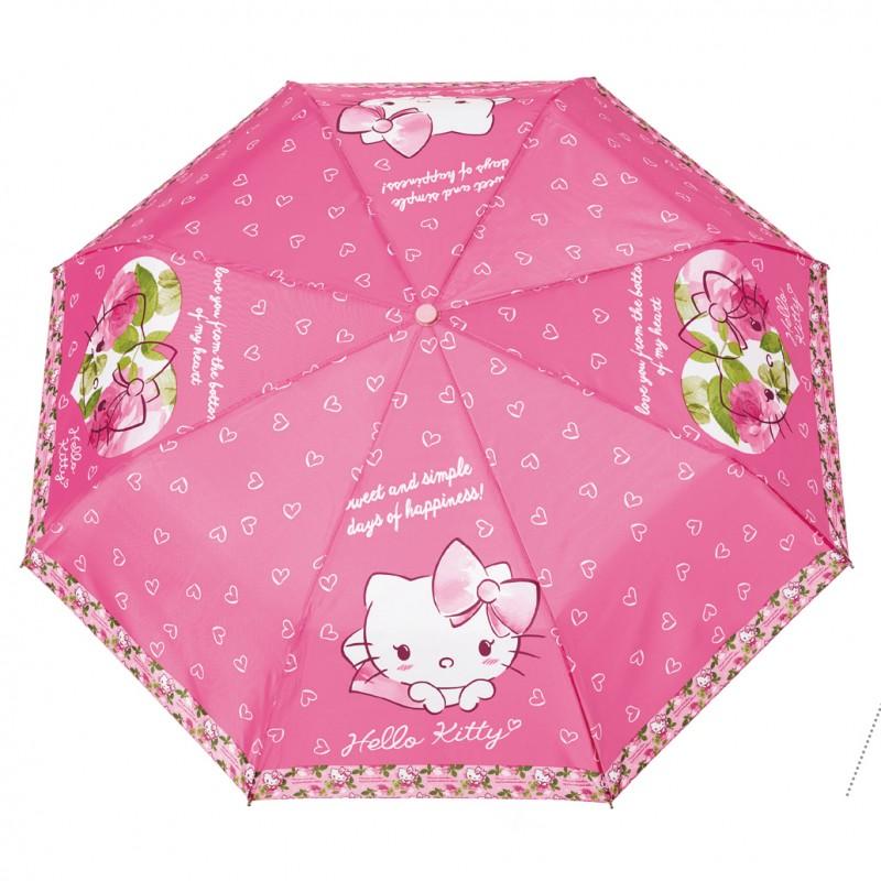 Umbrela manuala pliabila - Hello Kitty imagine
