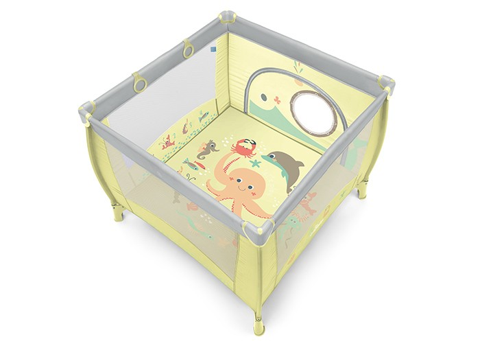 Baby Design Play UP Tarc pliabil 04 Light Green 2019 - cu inele ajutatoare