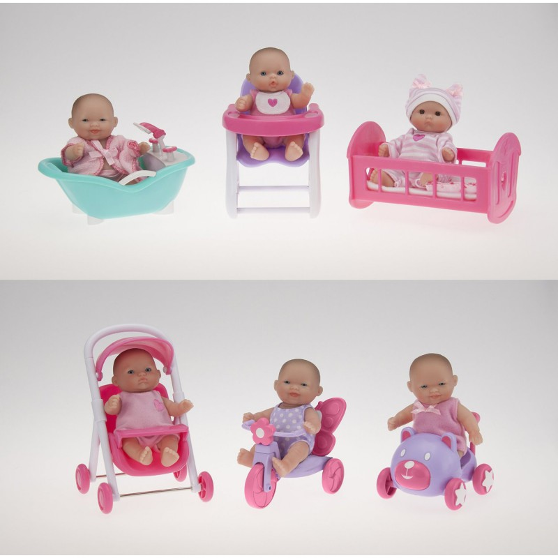 Bebelusi micuti cu diferite accesorii