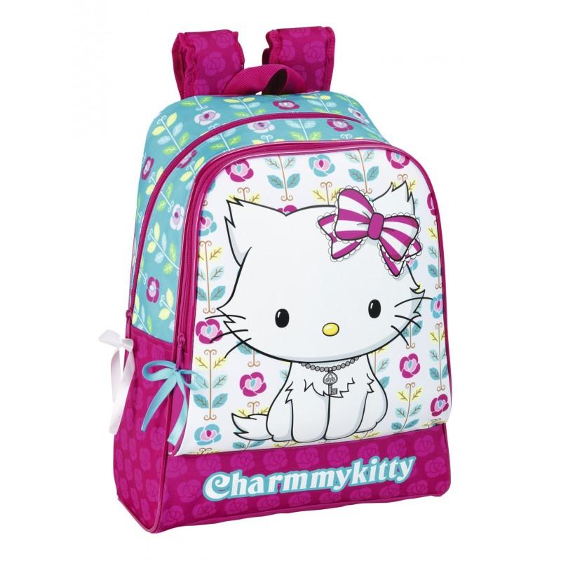 Ghiozdan scoala colectia Charmmy Kitty Flowers 2 imagine