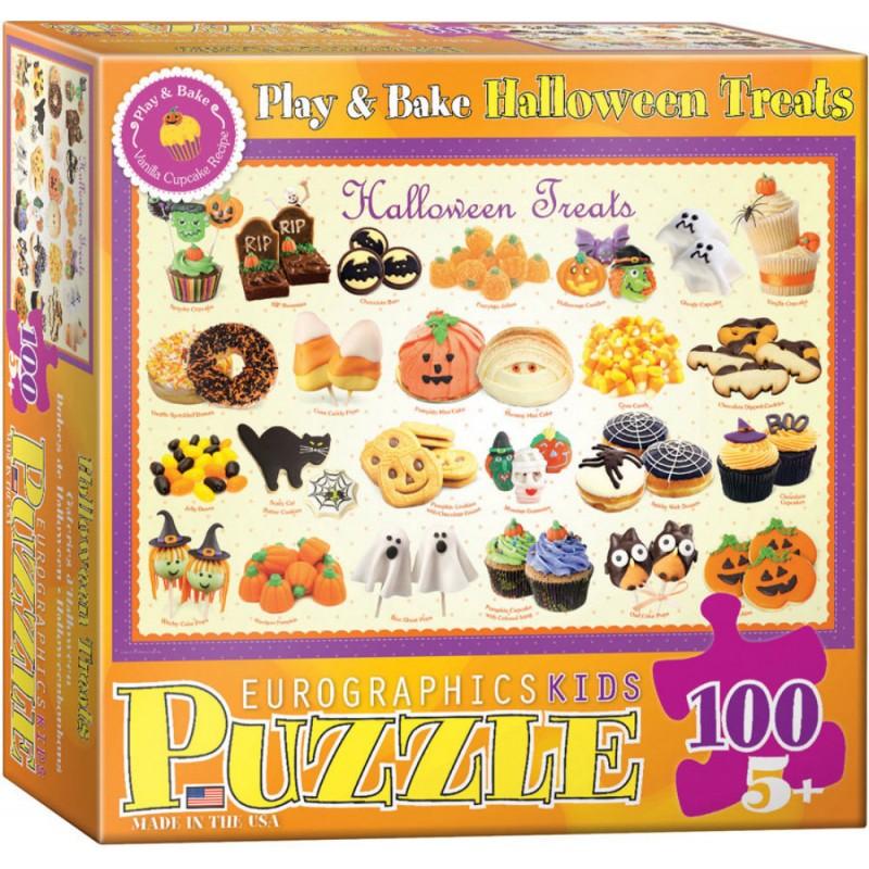 Puzzle 100 piese Halloween Treats imagine