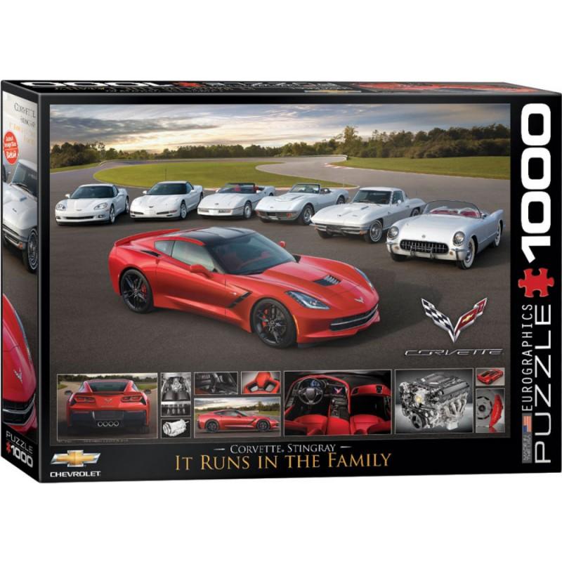 Puzzle 1000 piese 2014 Corvette Stingray It Runs in the Family imagine