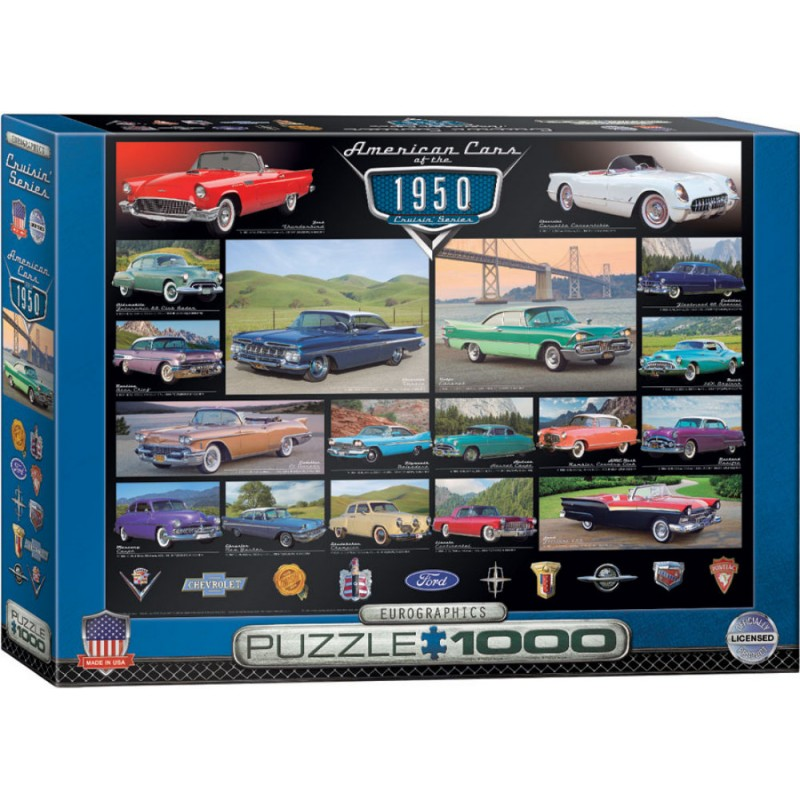 Puzzle 1000 piese American Cars of the 1950s