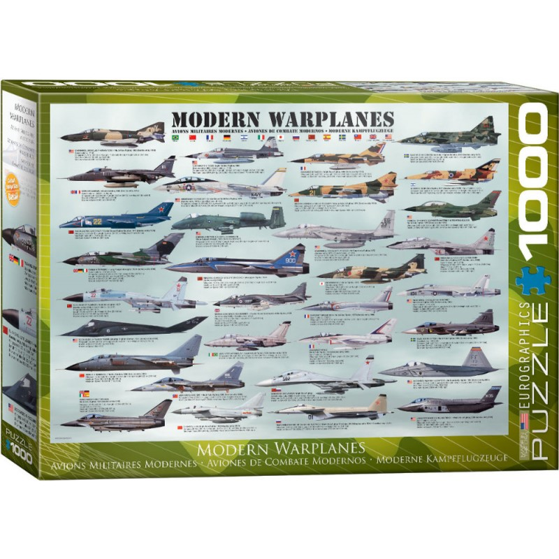 Puzzle 1000 piese Modern Warplanes (mare) e sters