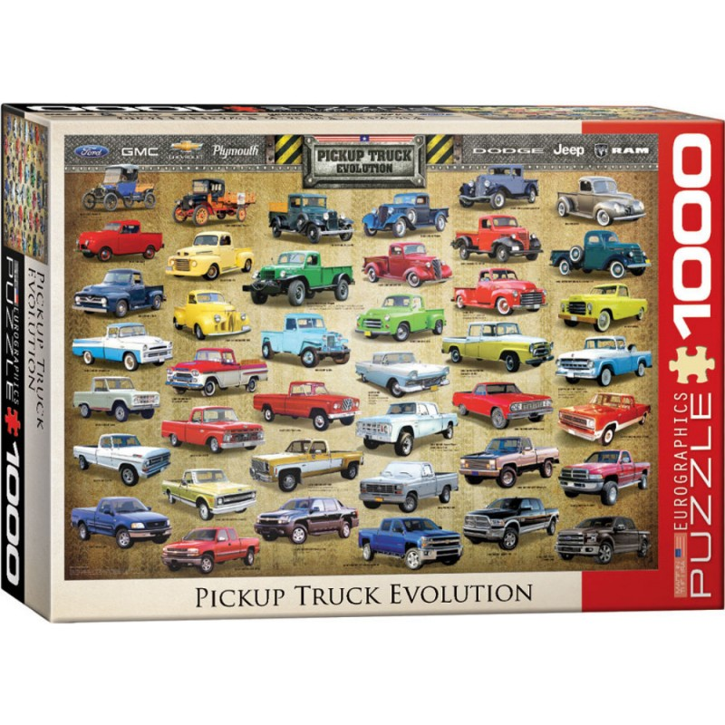 Puzzle 1000 piese Pickup Truck Evolution imagine