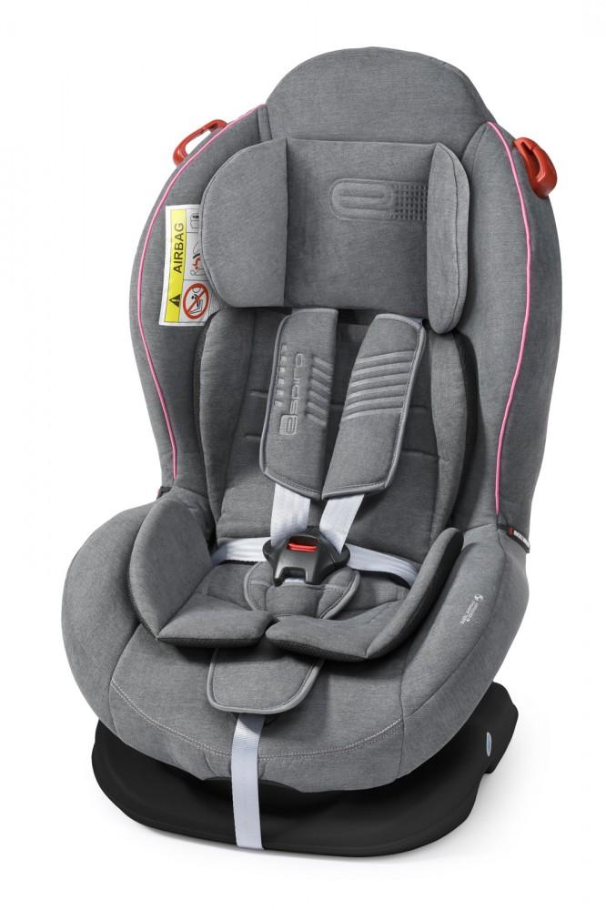 Espiro Delta scaun auto 0-25 kg - 08 Gray&Pink 2019 imagine