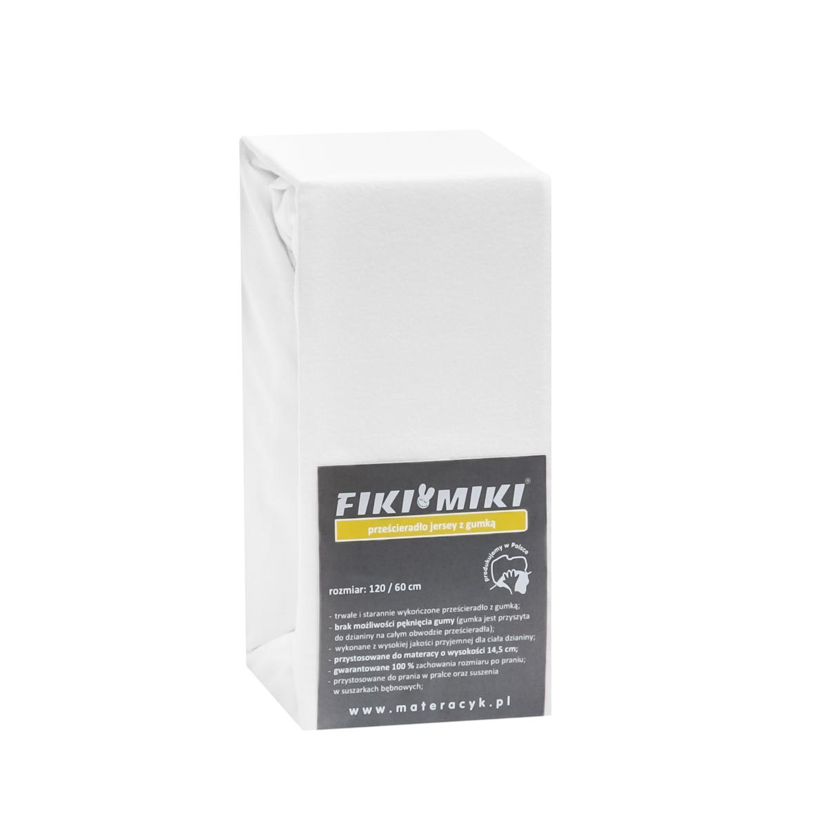 Cearsaf cu elastic jerse din bumbac alb 120/60 cm imagine