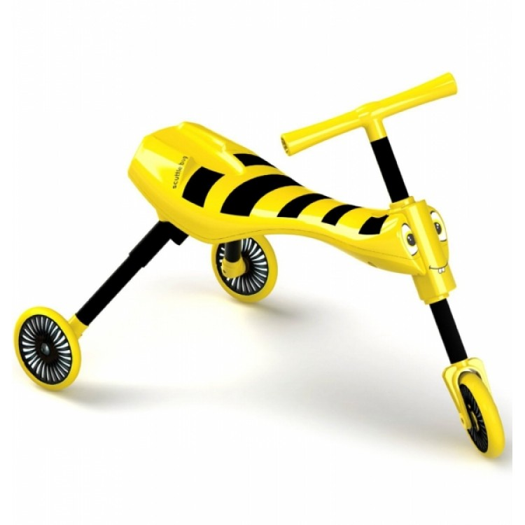 Tricicleta fara pedale Scuttlebug Bumble Yellow Black