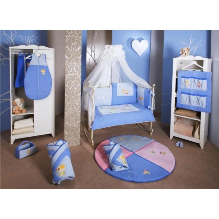 Set De Pat - Lenjerie Bacteriostatica: Culoare Romeo Blue