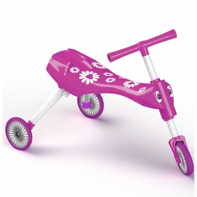 Tricicleta fara pedale Scuttlebug Fleur Pink White