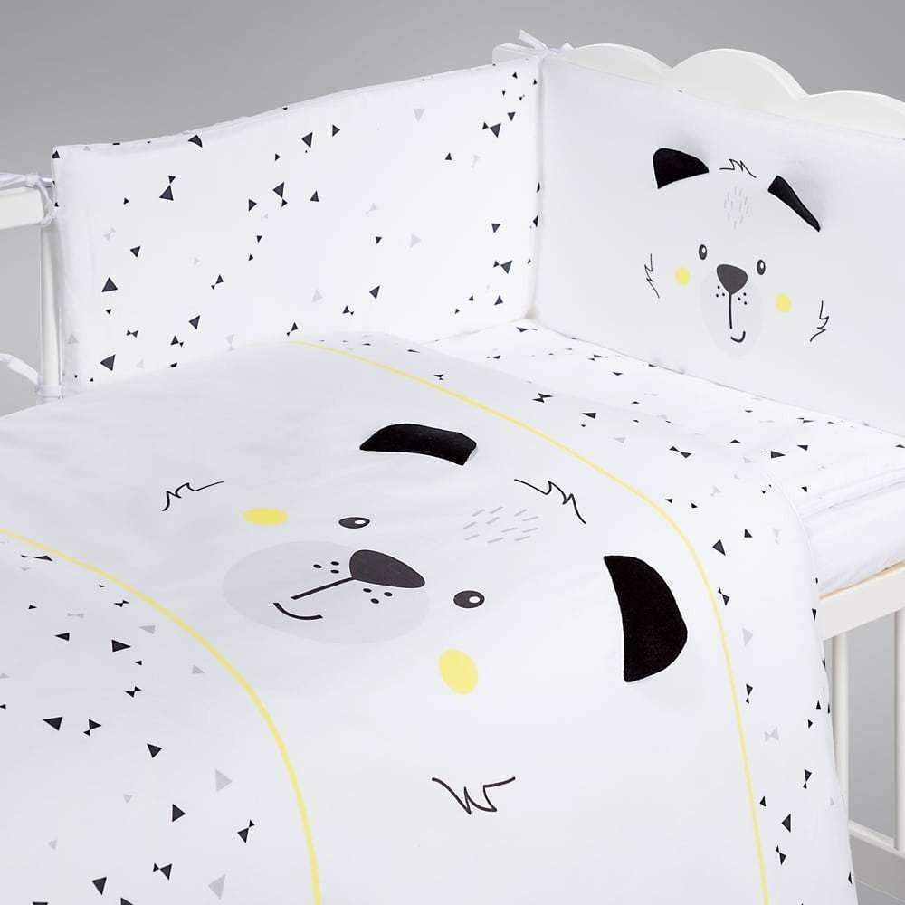 Albero Mio set lenjerie imprimata satinata 5 piese - K084 Funny Teddy Bear imagine