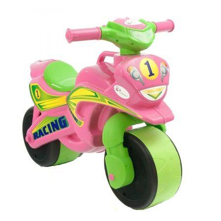 Motocicleta de impins MyKids Racing 0139/3 Roz/Verde imagine